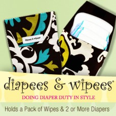 Diapees & Wipees Nappy Pouch and Wipe Case