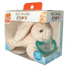 RaZ-Buddy Bunny - PLUSH PACIFIER HOLDER + FREE Jollypop