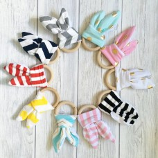 Bunny Ears Wooden Teething Ring